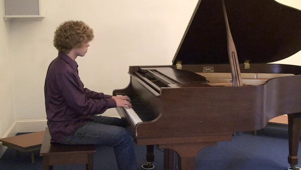 Seth Yoder playing Sonata Opus 2 No.3 - 1st Movement, by Ludwig van Beethoven (recorded at Salford Mennonite Church, Oct. 2009). Seth originally performed this piece for the Ithaca Piano Competition.