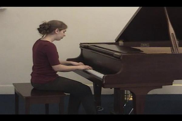Lydia Yoder playing Postludium, by Erno Dohnanyi - (recorded at Salford Mennonite Church, Spring 2009)