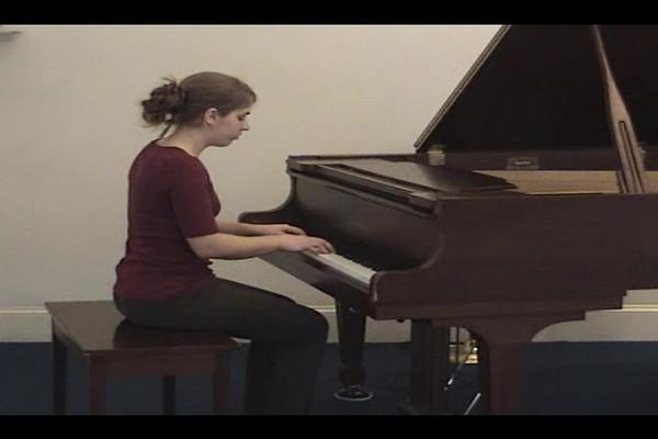 Lydia Yoder playing Praeludium VI, BMV 851 by Johann Sebastian Bach (recorded at Salford Mennonite Church, Spring 2009)