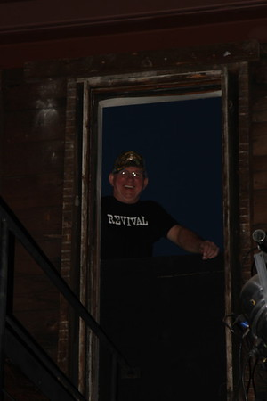 Dwane Hall peeks in during the Alison Pipitone Band at Sportsmen's Tavern in Buffalo, NY for the The Golden Ticket Concert in Support of Community Services for the Developmentally Disabled