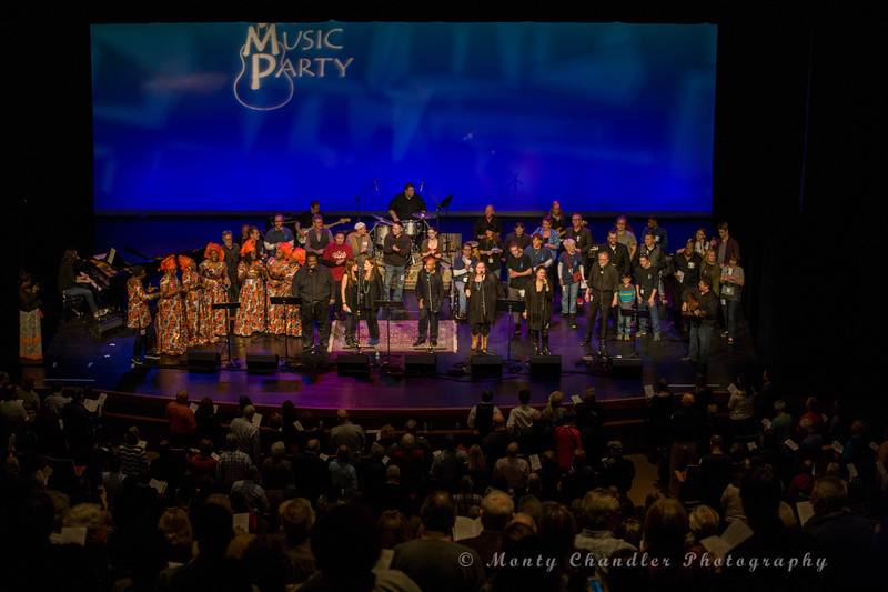 The finale sing-a-long at the Tosco Music Party held at the Knight Theatre in Charlotte, NC January 30th, 2016.