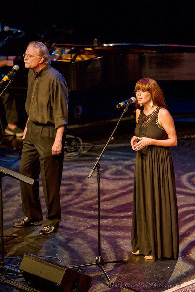 Miranda Reger and John Richards performing at the Tosco Music Party held at the Knight Theatre in Charlotte, NC September 10, 2016.