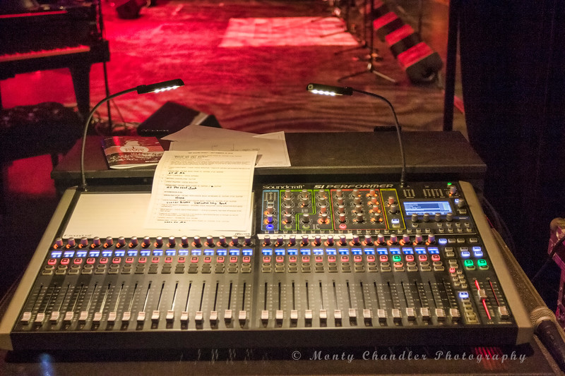 Monitor soundboard at the Tosco Music Party held at the Knight Theatre in Charlotte, NC September 10, 2016.