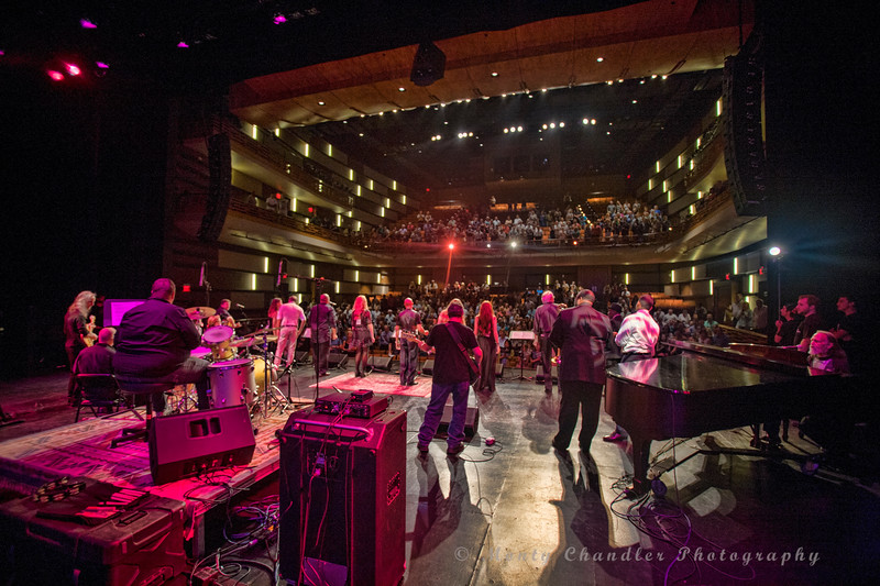 The TMP band & choir close the show at the Tosco Music Party held at the Knight Theatre in Charlotte, NC September 10, 2016.