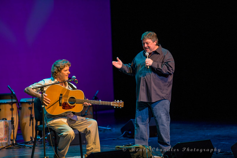 John Tosco introduces Bill Mize at the Tosco Music Party held at the Knight Theatre in Charlotte, NC September 10, 2016.