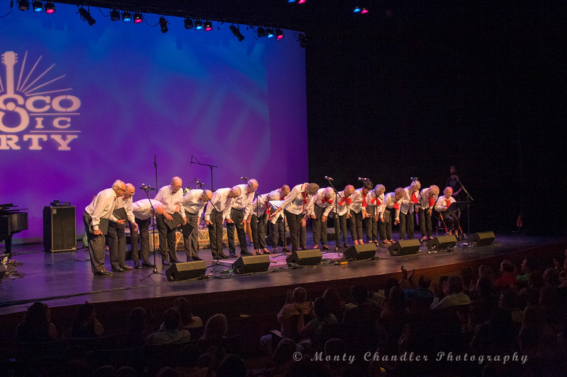 The Cyress Singers performing at the Tosco Music Party held at the Knight Theatre in Charlotte, NC September 10, 2016.