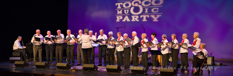 The Cypress Singers performing at the Tosco Music Party held at the Knight Theatre in Charlotte, NC September 10, 2016.
