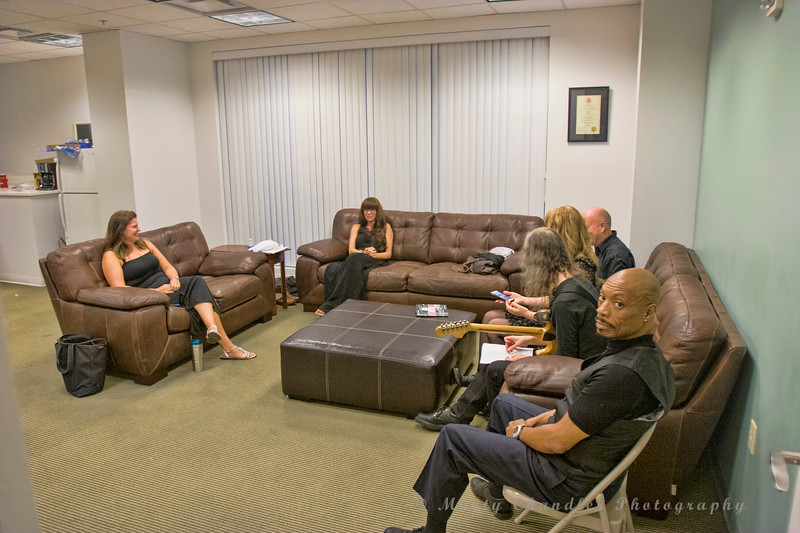 Artists lounge at the Tosco Music Party held at the Knight Theatre in Charlotte, NC September 10, 2016.