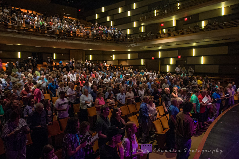 Audience introductions as the show begins at the Tosco Music Party held at the Knight Theatre in Charlotte, NC September 10, 2016.