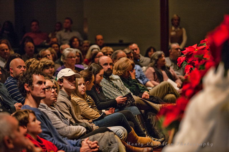 Audience at the Tosco Music Holiday Party held in the McGlohon Theater at Spirit Square in Charlotte, NC, Dec10th 2016.