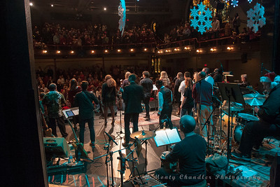 The closing sing-along at the Tosco Music Holiday Party held in the McGlohon Theater at Spirit Square in Charlotte, NC, Dec10th 2016.