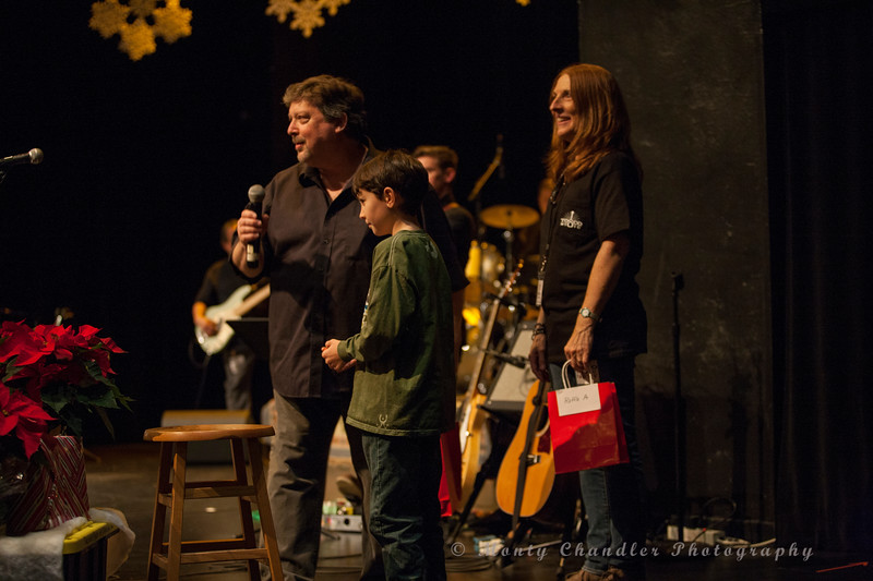Raffle time at the Tosco Music Holiday Party held in the McGlohon Theater at Spirit Square in Charlotte, NC, Dec10th 2016.