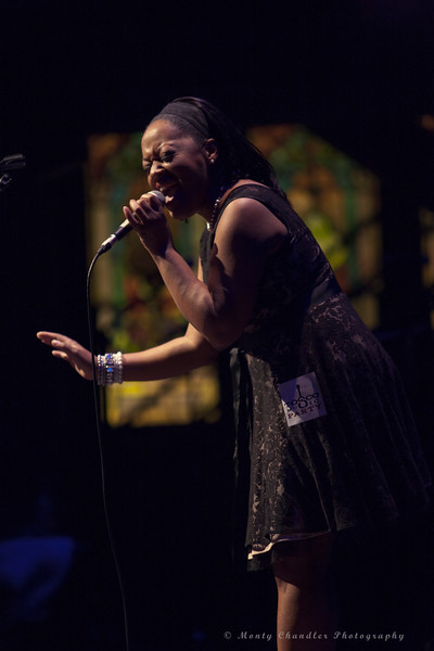 Gina Robinson performing at the Tosco Music Holiday Party held in the McGlohon Theater at Spirit Square in Charlotte, NC, Dec10th 2016.