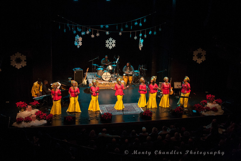 International Community Mass Choir performing at the Tosco Music Holiday Party held in the McGlohon Theater at Spirit Square in Charlotte, NC, Dec10th 2016.