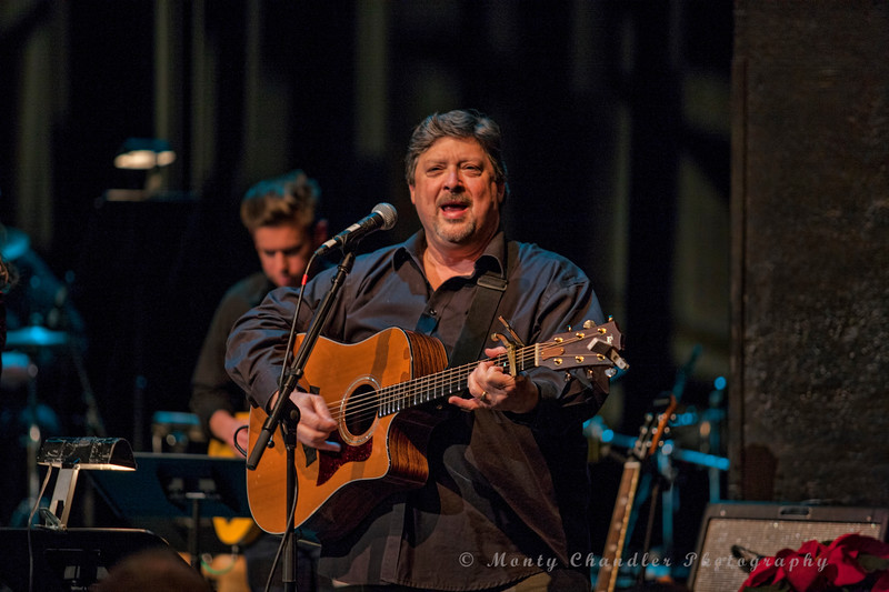 John Tosco leading the sing-along at the Tosco Music Holiday Party held in the McGlohon Theater at Spirit Square in Charlotte, NC, Dec10th 2016.