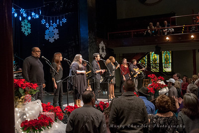 The opening sing-along at the Tosco Music Holiday Party held in the McGlohon Theater at Spirit Square in Charlotte, NC, Dec10th 2016.