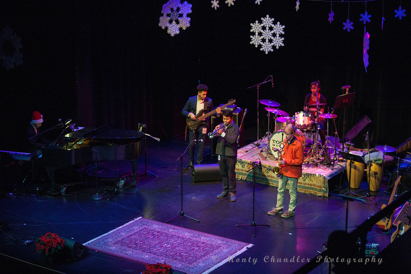 Jazz Arts Initiative performing at the Tosco Music Holiday Party held in the McGlohon Theater at Spirit Square in Charlotte, NC, Dec10th 2016.