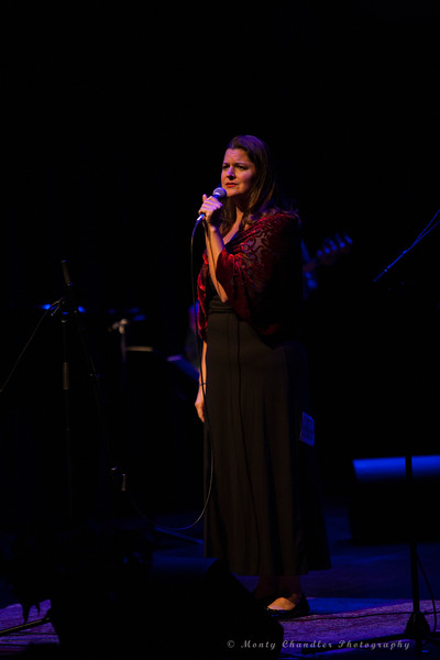 Julie Dean performing at the Tosco Music Holiday Party held in the McGlohon Theater at Spirit Square in Charlotte, NC, Dec10th 2016.