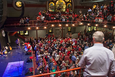 Introductions at the Tosco Music Holiday Party held in the McGlohon Theater at Spirit Square in Charlotte, NC, Dec10th 2016.