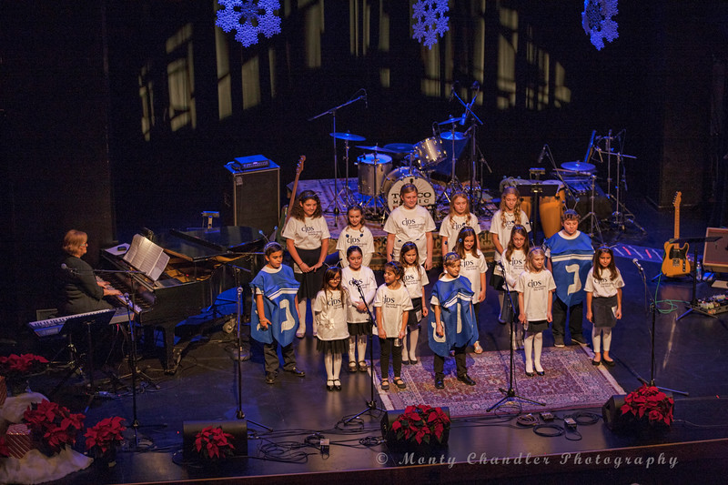Charlotte Jewish Day School performing at the Tosco Music Holiday Party held in the McGlohon Theater at Spirit Square in Charlotte, NC, Dec10th 2016.