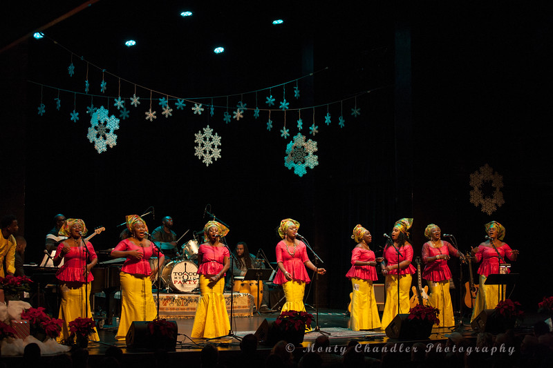 International Community Mass Choir of Charlotte performing at the Tosco Music Holiday Party held in the McGlohon Theater at Spirit Square in Charlotte, NC, Dec10th 2016.