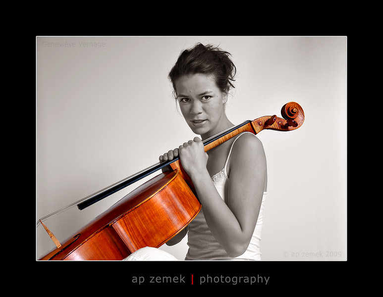 Cellist Genevieve Verhage, London, UK