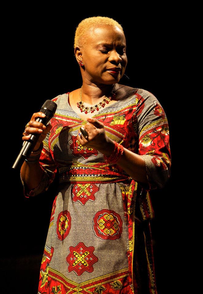 Angélique Kidjo in concert in Cannes