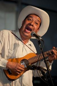 Ramón Gutiérrez Hernández, playing the requinto guitar for the Son de Madera band from Veracruz Mexico.