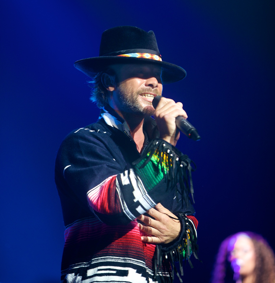 Jason Kay sings with Jamiroquai at the Nikaïa in Nice on 7/28/11
