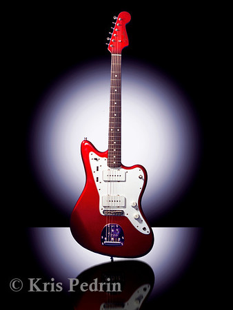 Red Fender Jazzmaster