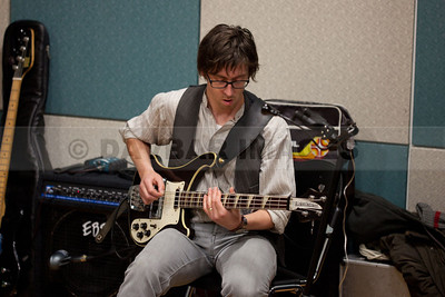 Jon O'Connell of The Walls recording at the RTE Studios (March 2011)