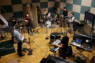 The Walls recording at the RTE Studios (March 2011)