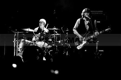 Joe Wall and drummer Cormac Dunne (The Stunning) at Vicar Street (September 2012)