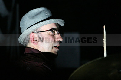 Drummer Cormac Dunne of the Stunning at Vicar Street (December 2008)