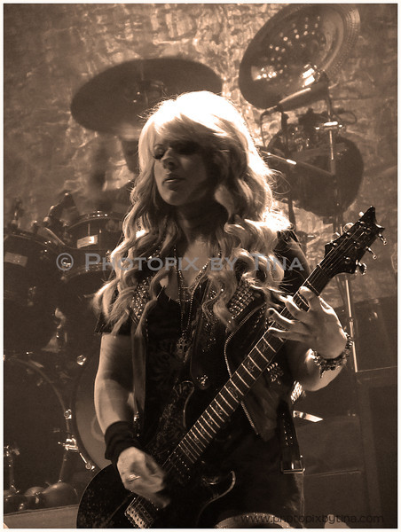 Orianthi ...in concert with Alice Cooper<br /> GM Centre, Oshawa<br /> December 7, 2011