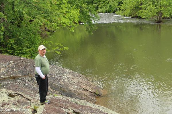 Jeff on the rocks.