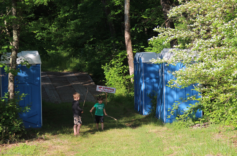 Kids at the outhouse