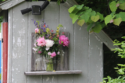 Outhouse decorations