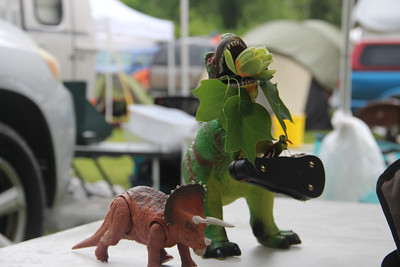 Dinosaurs, ready for tunes.