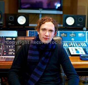 Dan Hawkins, musician, record producer and studio owner at Leeders Farm recording studios UK