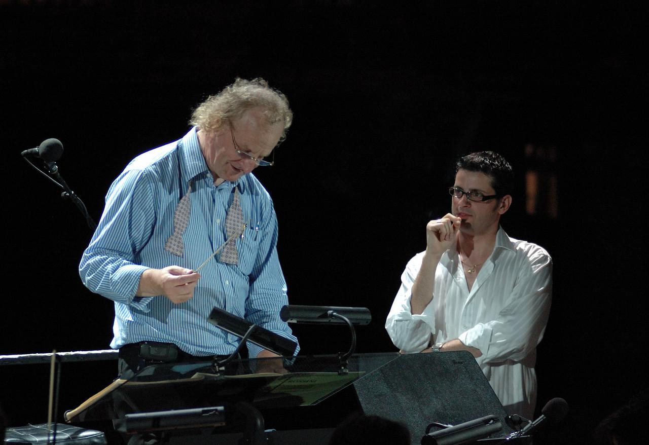 Dimitri Kopanakis and Martin Jarvis, Symphony by the Sea Rehearsal 20.06.08.