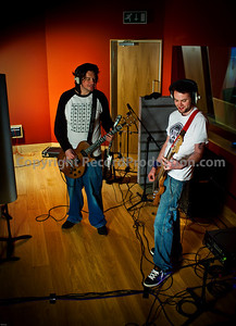 Drive By Audio in the recording studio - Metal band DBA during a recording session at Modern World Studios