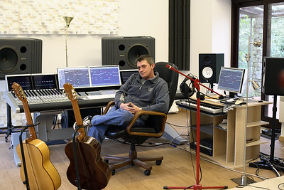 Mike Oldfield in his recording studio PUBLISHED:  Resolution Magazine, UK