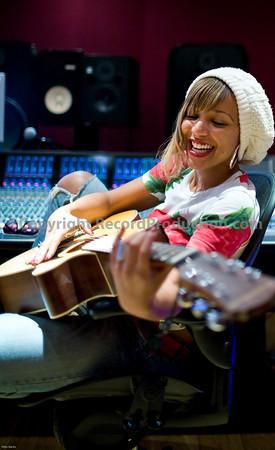 Singer Tanya Lacey at Modern World Studios UK