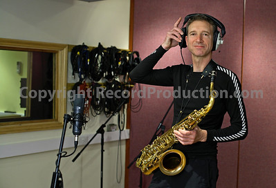 Snake Davis legendary sax player in the recording studio - www.RecordProduction.com
