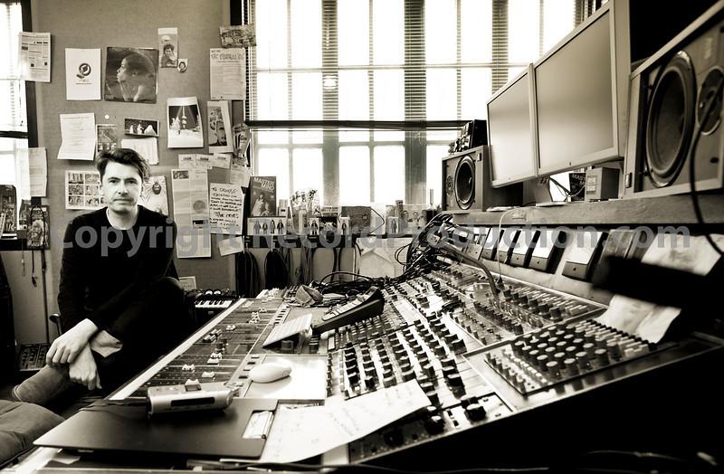 Bernard Butler - music producer - at Edwin Collins recording studio London