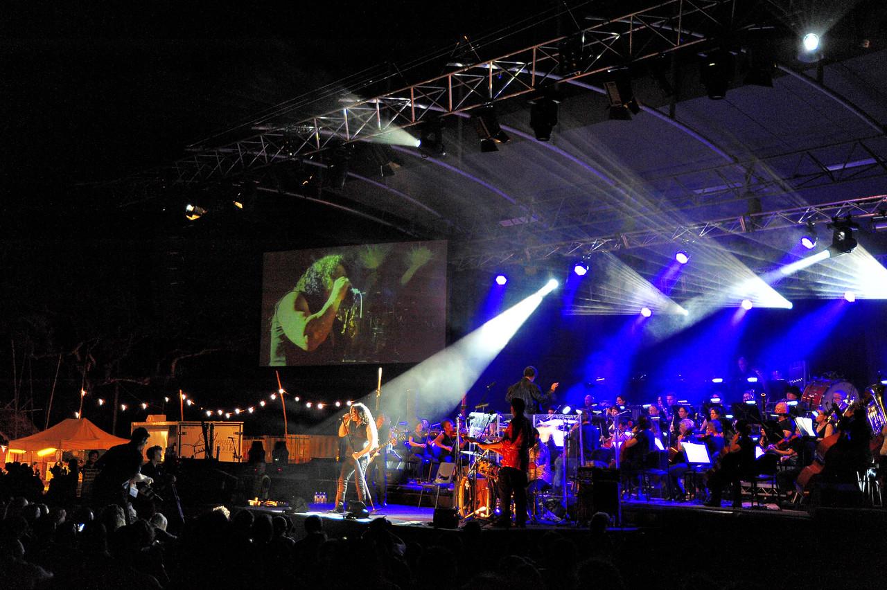 ConocoPhillips Symphony, DSO and the Zep Boys. Botanic Gardens Amphitheatre 31.07.15.