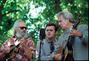 Del and Ronnie McCoury with Dave Grisman at RockyGrass.