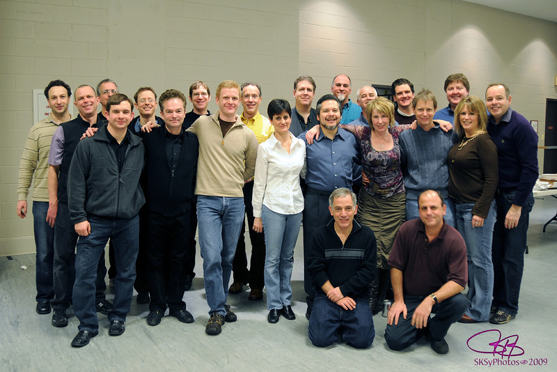 WICKED orchestra members after giving a concert for the cast and crew between shows in the lower rehearsal hall at the Oriental Theatre.  1/17/2009