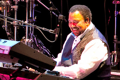 George Duke. Hard to take photos when the color of the lights were constantly changing.